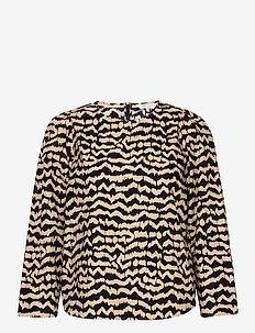 EleisaPW BL - blouses à manches longues - ikat print, night sky