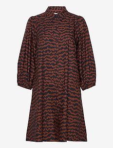 EleinaPW DR - robes chemises - ikat print, choclat glaze