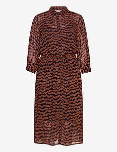 EsminePW DR - robes chemises - ikat print, choclat glaze