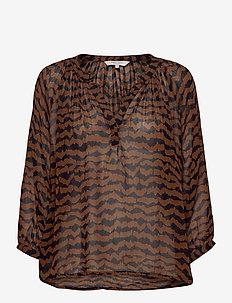 ErdonaePW BL - blouses à manches longues - ikat print, choclat glaze
