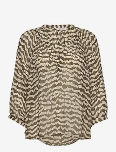ErdonaePW BL - langärmlige blusen - ikat print, beech