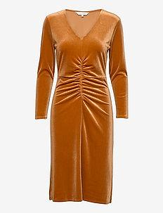 FloraPW DR - midi kjoler - roasted pecan