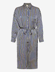 GroPW DR - midiklänningar - stripe, deep ultramarine