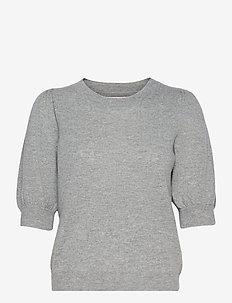 ElinaPW PU - strikkede toppe - grey melange