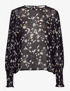 EritaPW BL - blouses à manches longues - abstract print, navy
