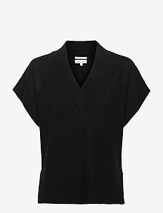 HevinPW PU - knitted tops & t-shirts - black
