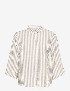 CindiePW SH - chemises à manches longues - stripe, vetiver