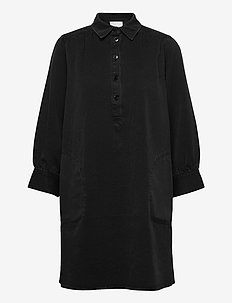 HuanPW DR - everyday dresses - washed black denim