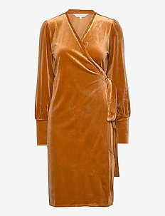 VanillaPW DR - robes portefeuille - roasted pecan