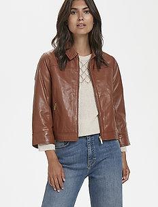 Adelaide JA - vestes en cuir - leather brown