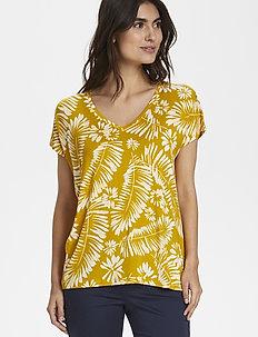 CalinaPW TS - t-shirts - palm print, golden spice