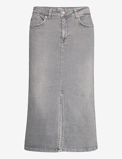 DilinPW SK - midi nederdele - grey vintage denim