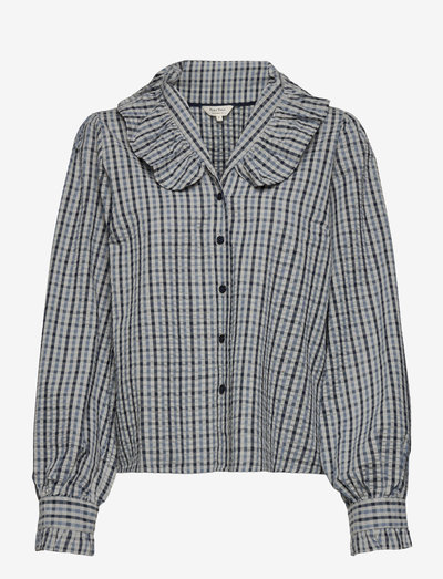 KatarinPW SH - langærmede skjorter - coronet blue check