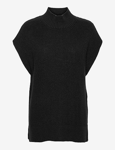 KeekeePW PU - strikkede toppe - black