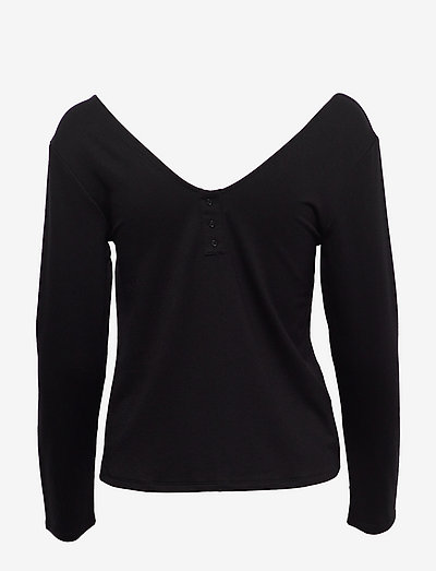 Marta Long-sleeved T-shirt - night & loungewear - black