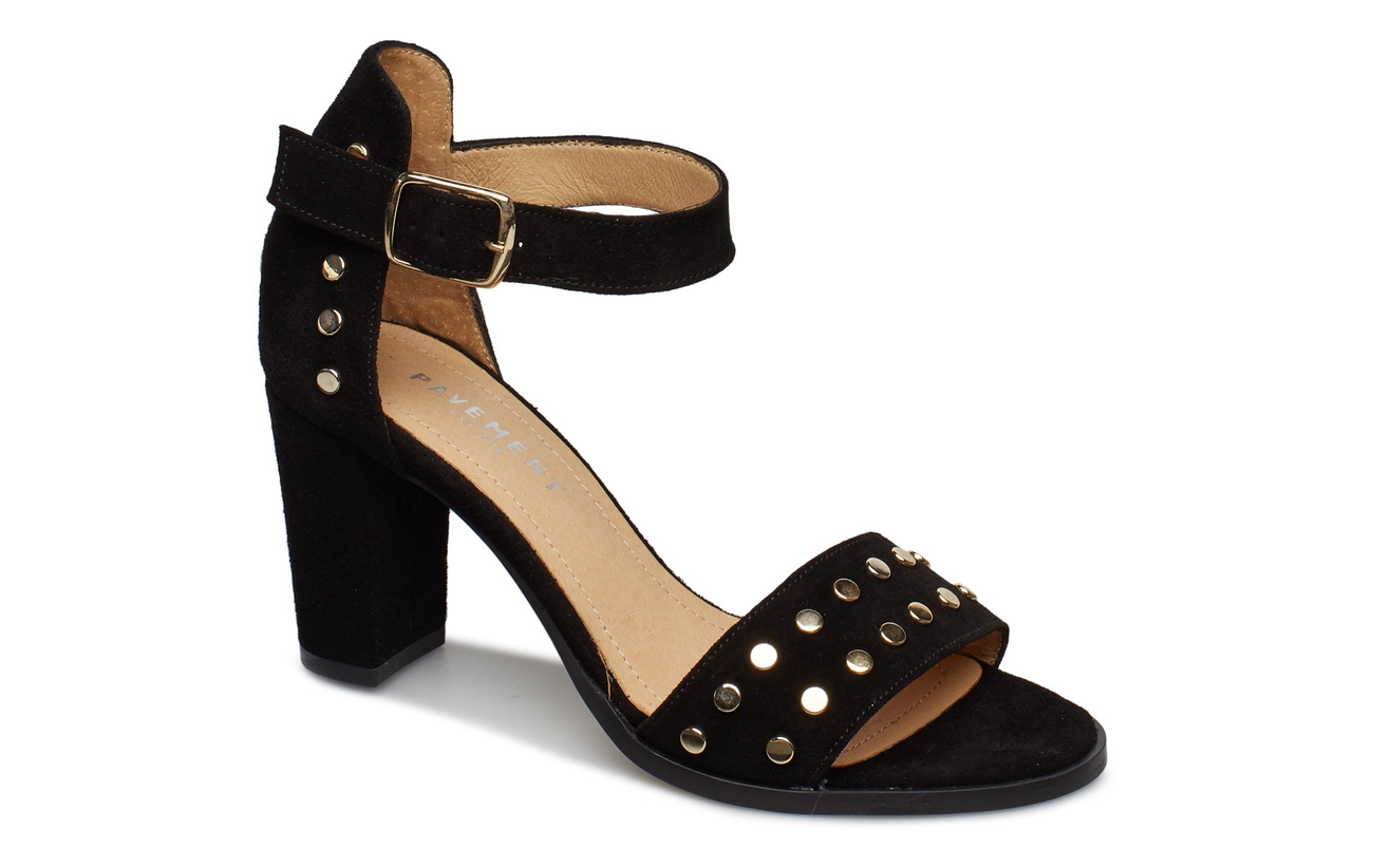 Pavement Silke Studs - BLACK SUEDE