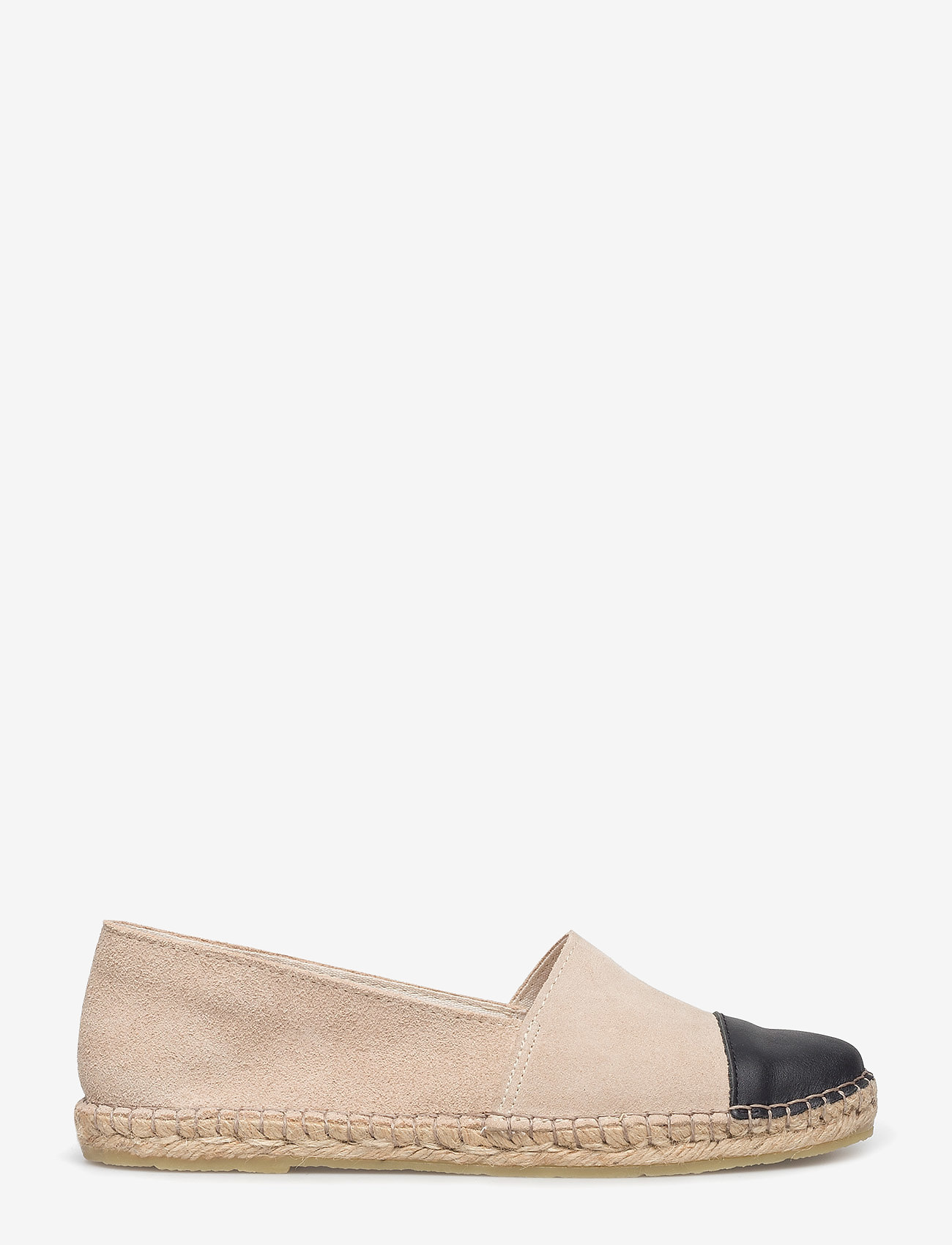Pavement - Nanna - platta espadriller - beige suede/black - 1