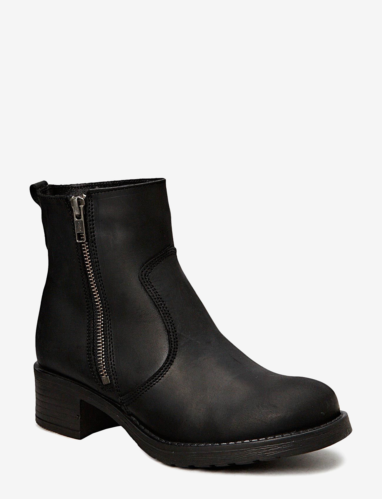 Pavement - Louise wool - flat ankle boots - black wool - 0