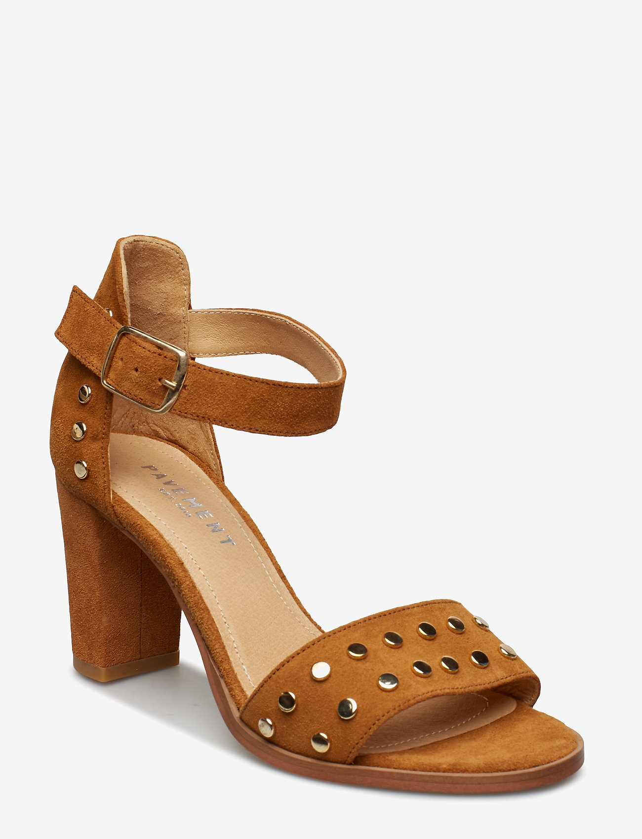 Pavement - Silke Studs - hoge sandalen - tan suede