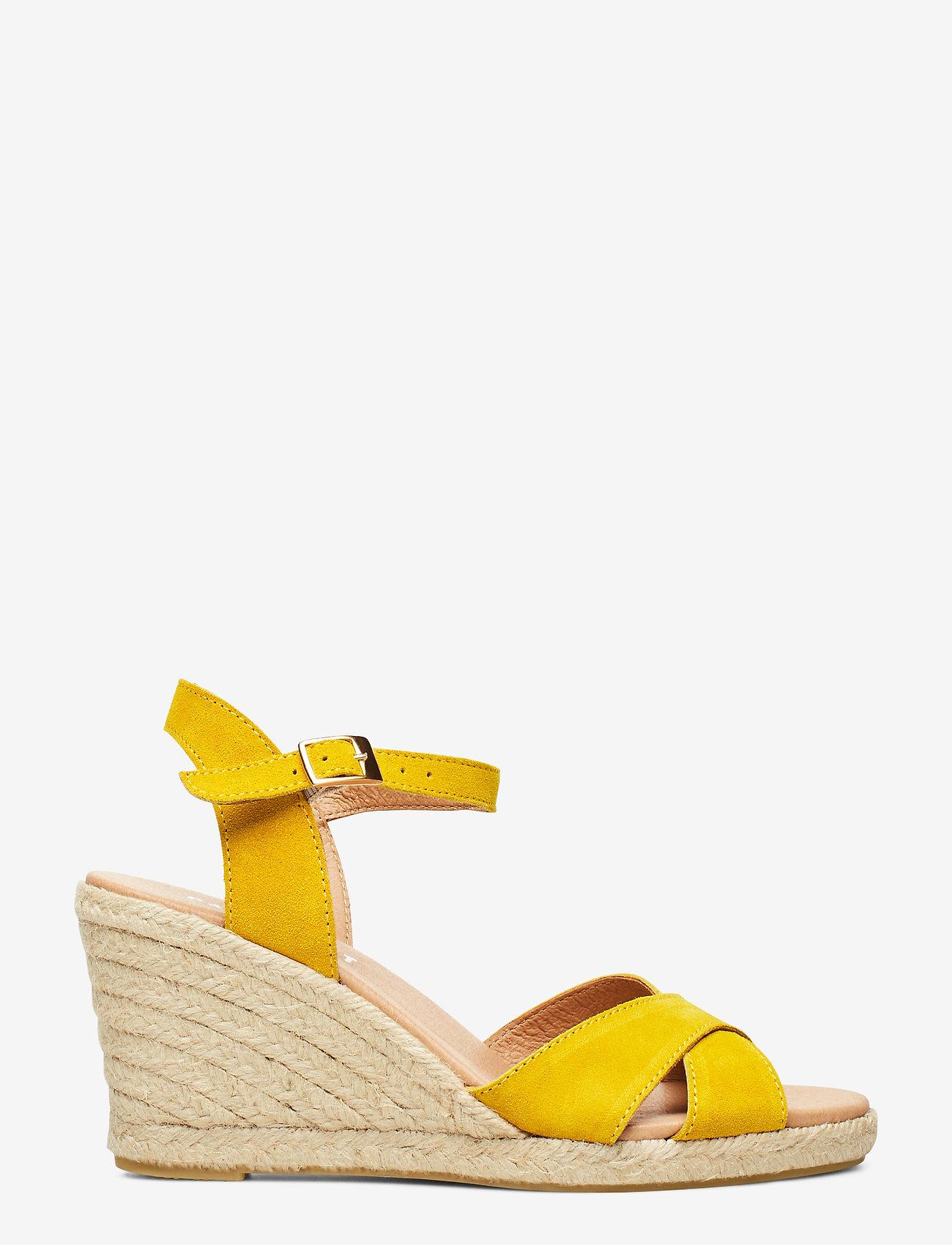 Pavement - Dorit - espadrilles met sleehak - yellow suede #19 - 1