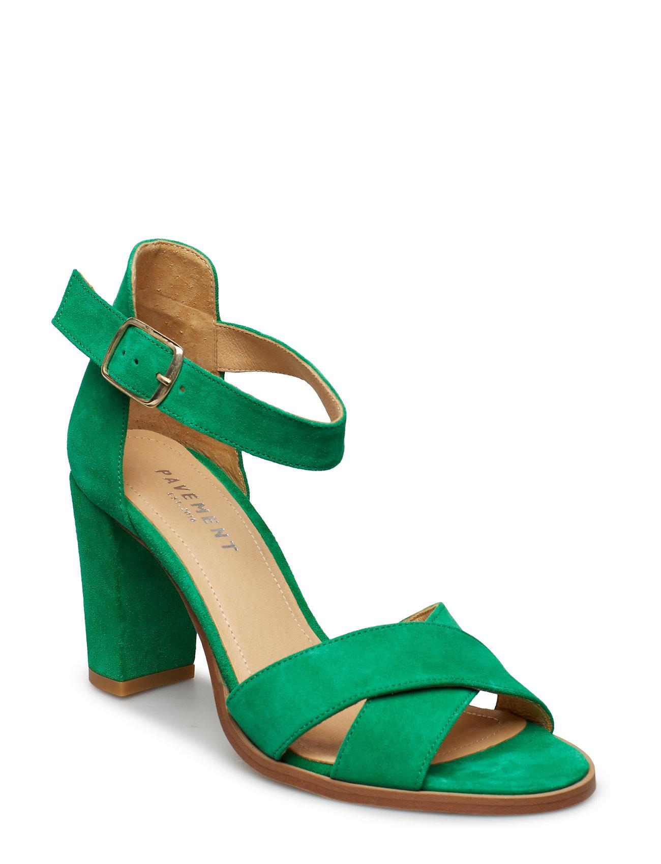 52c622695749 TAN SUEDE Pavement Silke Cross højhælede sandaler for dame - Pashion.dk
