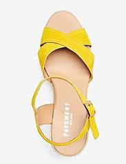 Pavement - Dorit - espadrilles met sleehak - yellow suede #19 - 3