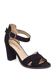 Silke cross - BLACK SUEDE