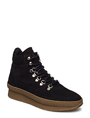 Haily - BLACK SUEDE/BROWN