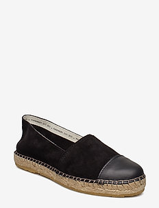 Nanna - flat espadrilles - black suede/black