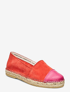 Nanna - flate espadrillos - coral suede/pink
