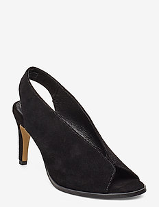 Limon - sling backs - black suede