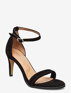 Amber - højhælede sandaler - black suede