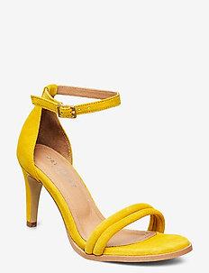 Amber - højhælede sandaler - yellow suede #19