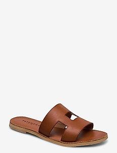 Liv - flache sandalen - dark tan