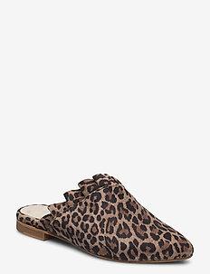 Wendy - mules & slipins - leopard suede