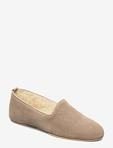 Aven home - slippers - beige suede