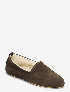 Aven home - slippers - green suede