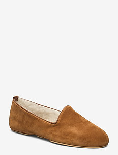 Aven home - slippers - tan suede