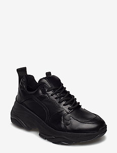 Mynthe leather - chunky sneakers - black