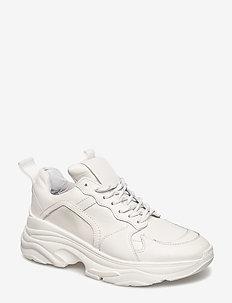Mynthe leather - baskets épaisses - white