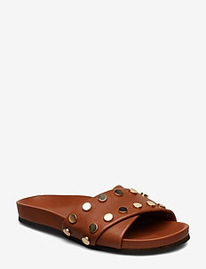 Nicole - platte sandalen - tan