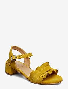 Holly - sandały na obcasie - yellow suede