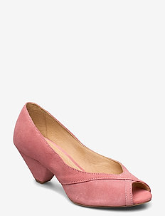 Zoey - peeptoes - rose suede