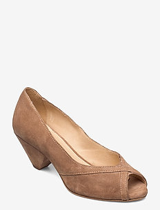 Zoey - peeptoes - taupe suede