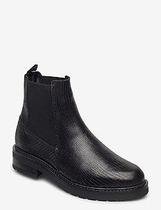 Jemma Lizard wool - chelsea boots - black lizard