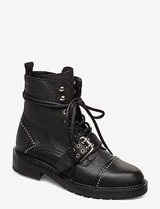 Heaven - flat ankle boots - black