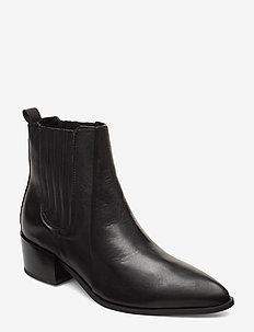 Sage - ankelstøvler med hæl - black