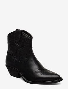Raquel leather - BLACK