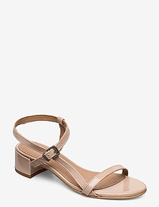 Edith - korolliset sandaalit - nude patent