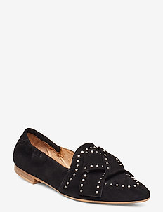 Mattie - loafers - black suede